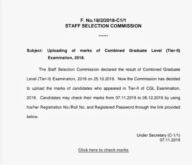 Combined Graduate Level Examination (Tier-II) - 2018