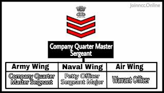 Company Quarter Master Sergeant Rank