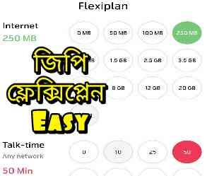 GP Flexi plan | জিপি ফ্লেক্সি প্লেন