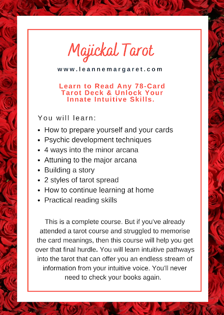 Tarot Course Outline and online brochure