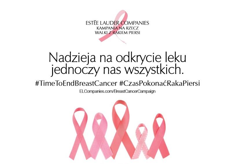 Kampania Estee Lauder na rzecz Walki z Rakiem Piersi 2019 ZJEDNOCZENI W NADZIEI #CzasPokonaćRakaPiersi