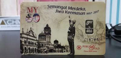 Jongkong Emas 1 Gram Merdeka edisi Public Gold