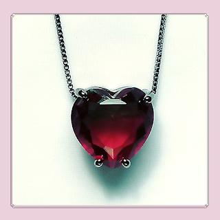 Colar de coração, bijuterias, acessórios femininos