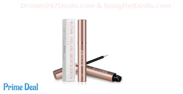 72%OFF B-COMB Eyelash & Eyebrow Growth Serum for Natural - Lash Boost Serum Brow Growth Enhancer - for Extension, Thickness, Strength - 3ml