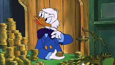Picsou en Scrooge dans Le Noël de Mickey (1983) Scrooge McDuck Christmas Carol