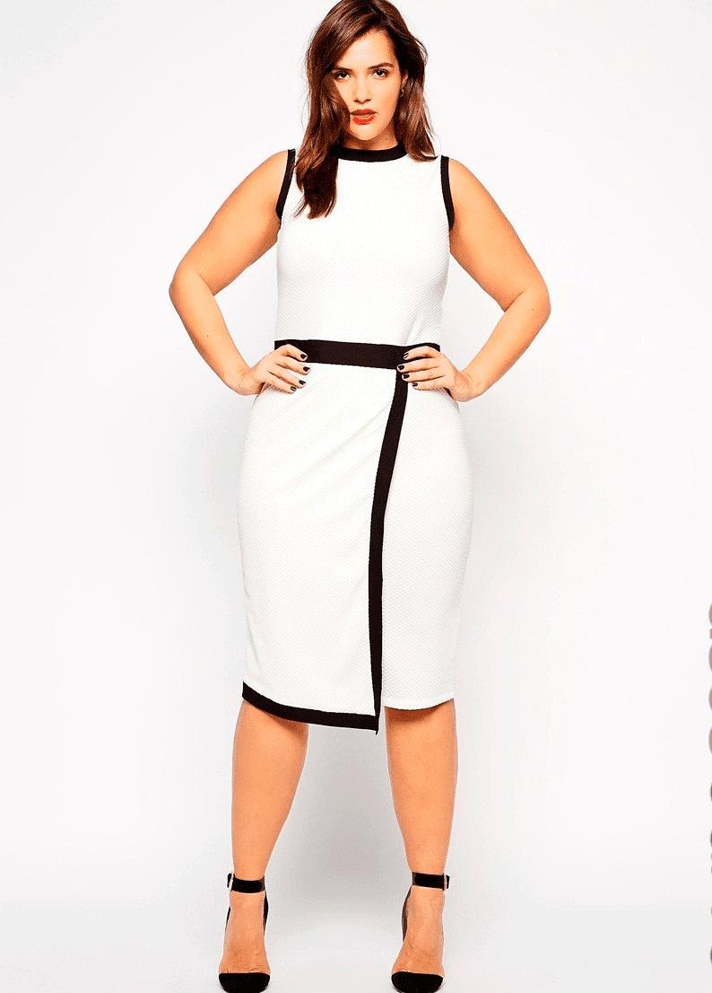 vestidos en blanco y negro para gorditas