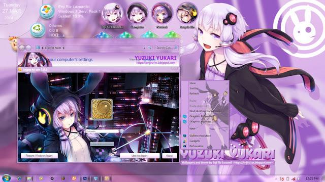 Yuzuki Yukari Theme Win 7 by Enji Riz Lazuardi