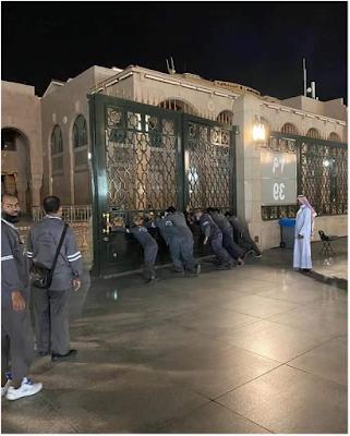 يتماغلاق المسجد النبوي