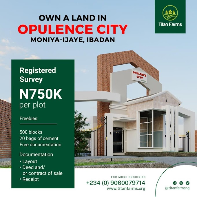 Titan Farms Launches Opulence City, Sells for #750,000