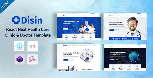 Best React Next Medical and Doctors Template