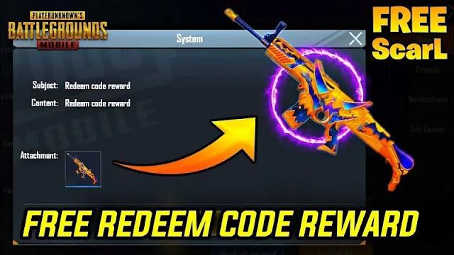 Free Redeem Code for PUBG Mobile, Free skin pubg mobile, UC pubg free
