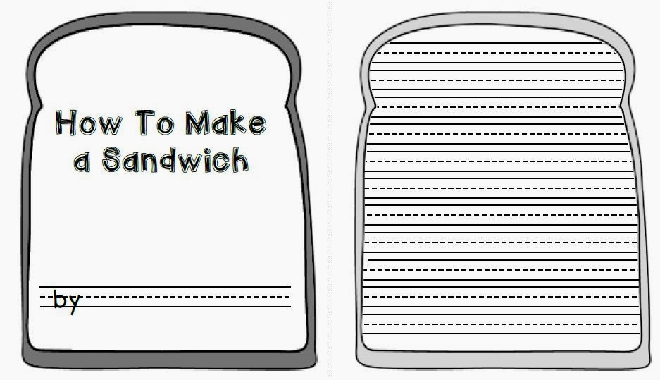 sandwich template for writing sailing through 1st grade how to instructional writing
