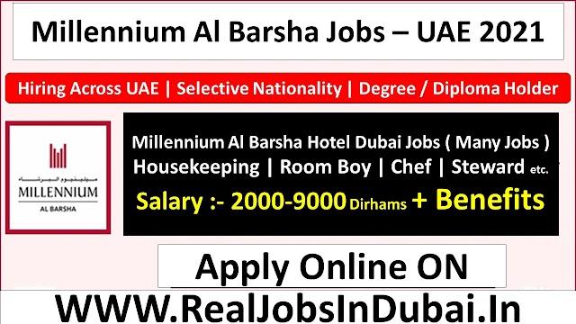 Millennium Hotel Dubai Hiring Staff  UAE 2021
