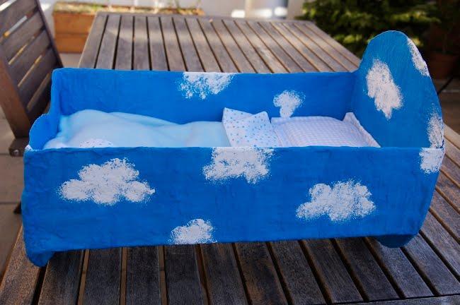 Costruire Culla In Legno.La Forma Delle Nuvole Culla Fai Da Te Di Cartone Per Le Bambole