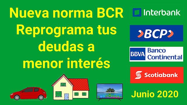 Reprograma tus deudas a menor interés gracias al BCRP