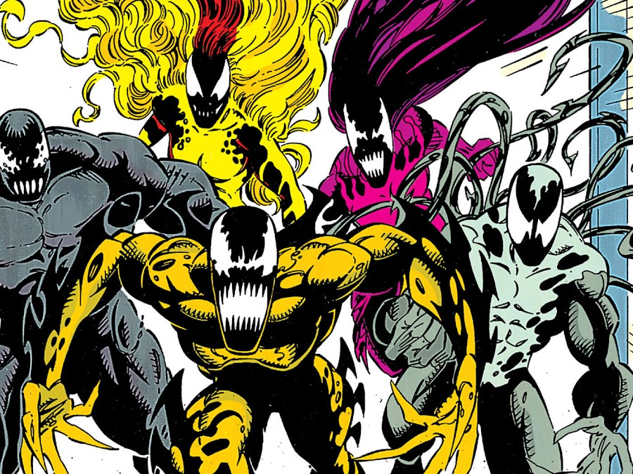 spawns of symbiote klyntar agony lasher phage riot scream venom lethal protector eddie brock marvel comics