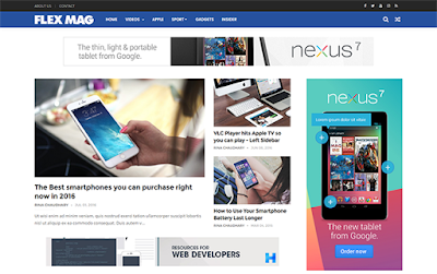 FlexMag Responsive Blog/Magazine Blogger Template