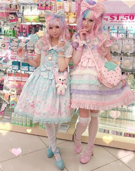 kawaii fashion cute outfits pastel hair pretty clothes jfashion fashion blogger blog lolita dress sugarycarnivore pink hair