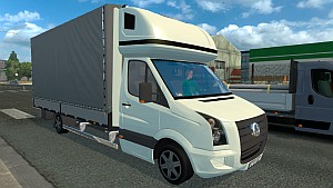 Volkswagen Crafter van in AI traffic