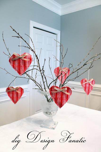 Vintage Valentine Hearts, Fabric Hearts, Vintage, Valentine's Day