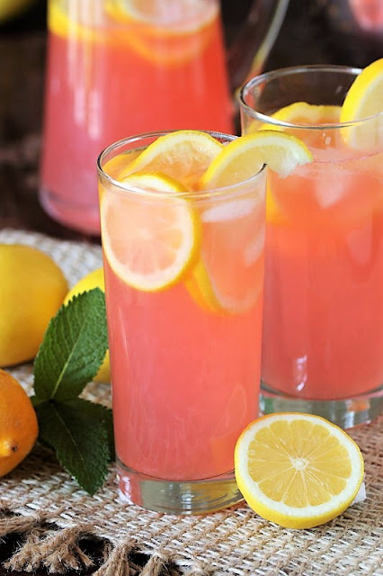 Glass of Pink Lemonade from Scratch Image