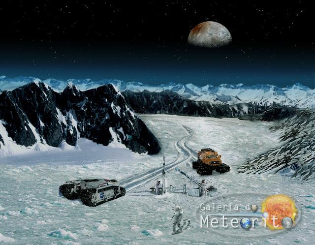 Superfície de Plutão - ilustração - imagem