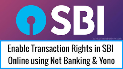 Change Transaction Rights in SBI