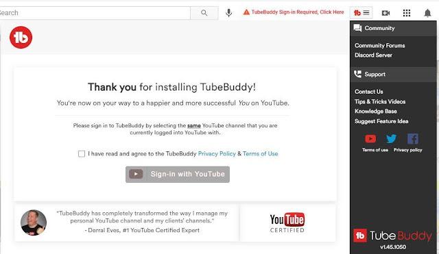 tubebuddy extension