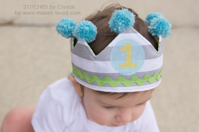 How to make a birthday crown with fabric