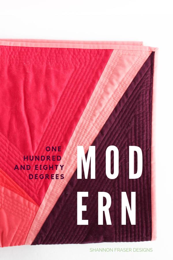 180-Degree Quilt | Q3 Finish-a-Long | Shannon Fraser Designs #modernquilt #wallhanging