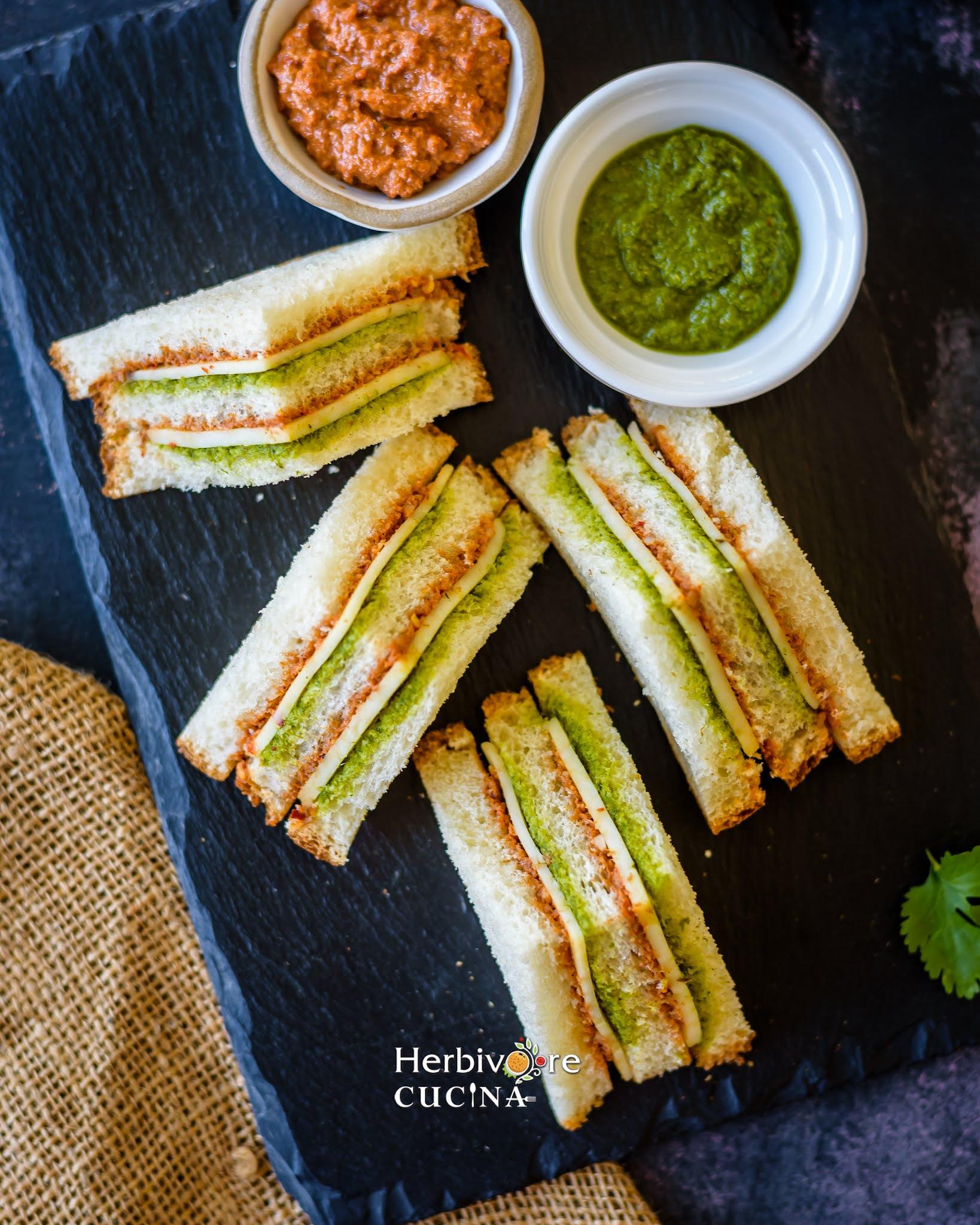 Tricolor Tea Sandwiches
