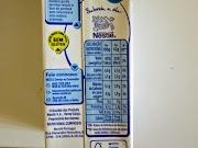 Leite evaporado 6% MG Nestlé: Informação Nutricional