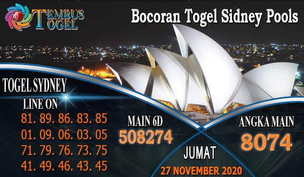 Bocoran Togel SidneyPools Jumat 27 November 2020