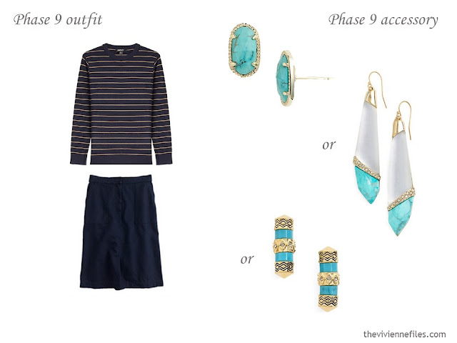 How to Build a Capsule Wardrobe of Accessories in a Navy, Beige, Turquoise and Yellow color palette