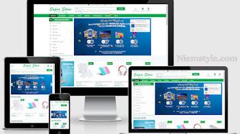 Template blogspot bán hàng Super Store kèm data - Phố Nhỏ Blog