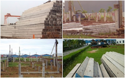 mobilisasi tiang pancang beton