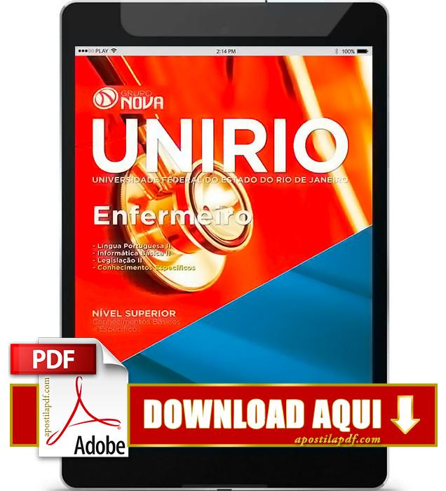 Apostila UNIRIO 2016 Enfermeiro PDF Download