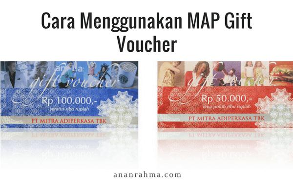 MAP gift voucher
