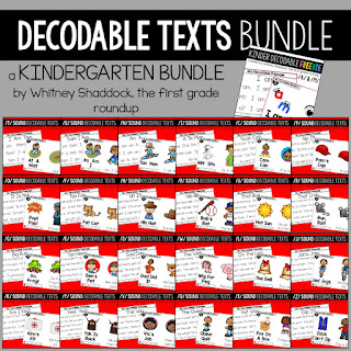 Click here to view the bundle of kindergarten decodable texts.