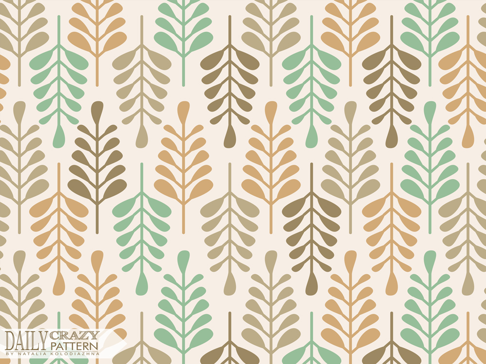 """Vintage autumn art print for """"Daily Crazy Pattern"""" project"""