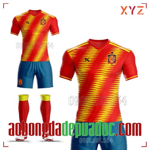 Áo Đội Tuyển Tây Ban Nha Tự Thiết Kế Mã TBN-01 Đẹp Và Độc