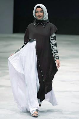 Gamis tabrak Wanra modern manis Hijab Jilbab Cewek IGO Trend Baju Lebaran Menurut Zaskia Sungkar