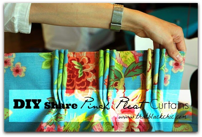 DIY Share & The Challange Pinch Pleat Curtains With Sarah