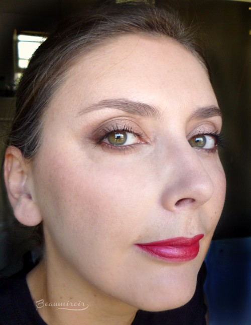 Wearing Lancome lipstick L'Absolu Rouge Definition Le Sepia fotd motd