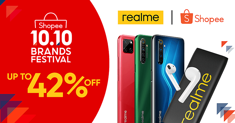 Deal: Get up to PHP 2K off realme products from Shopee's 10.10 brand festival sale!