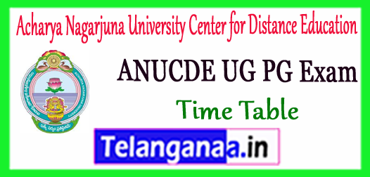 ANUCDE Acharya Nagarjuna University Center for Distance Education Part I II III UG PG Time Table 2017