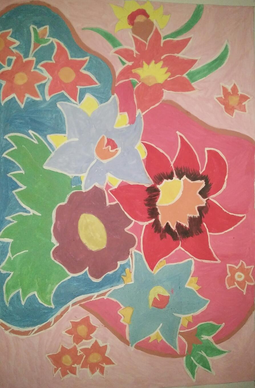 Batik Bunga Sederhana
