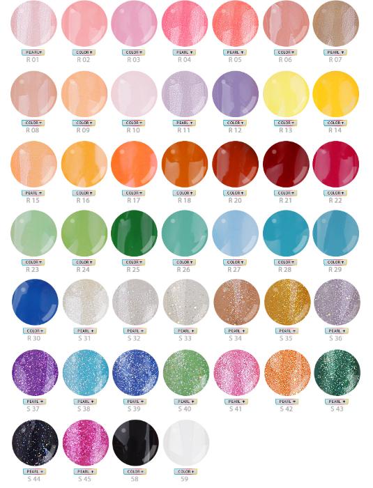 Opi Gel Color Chart 2013