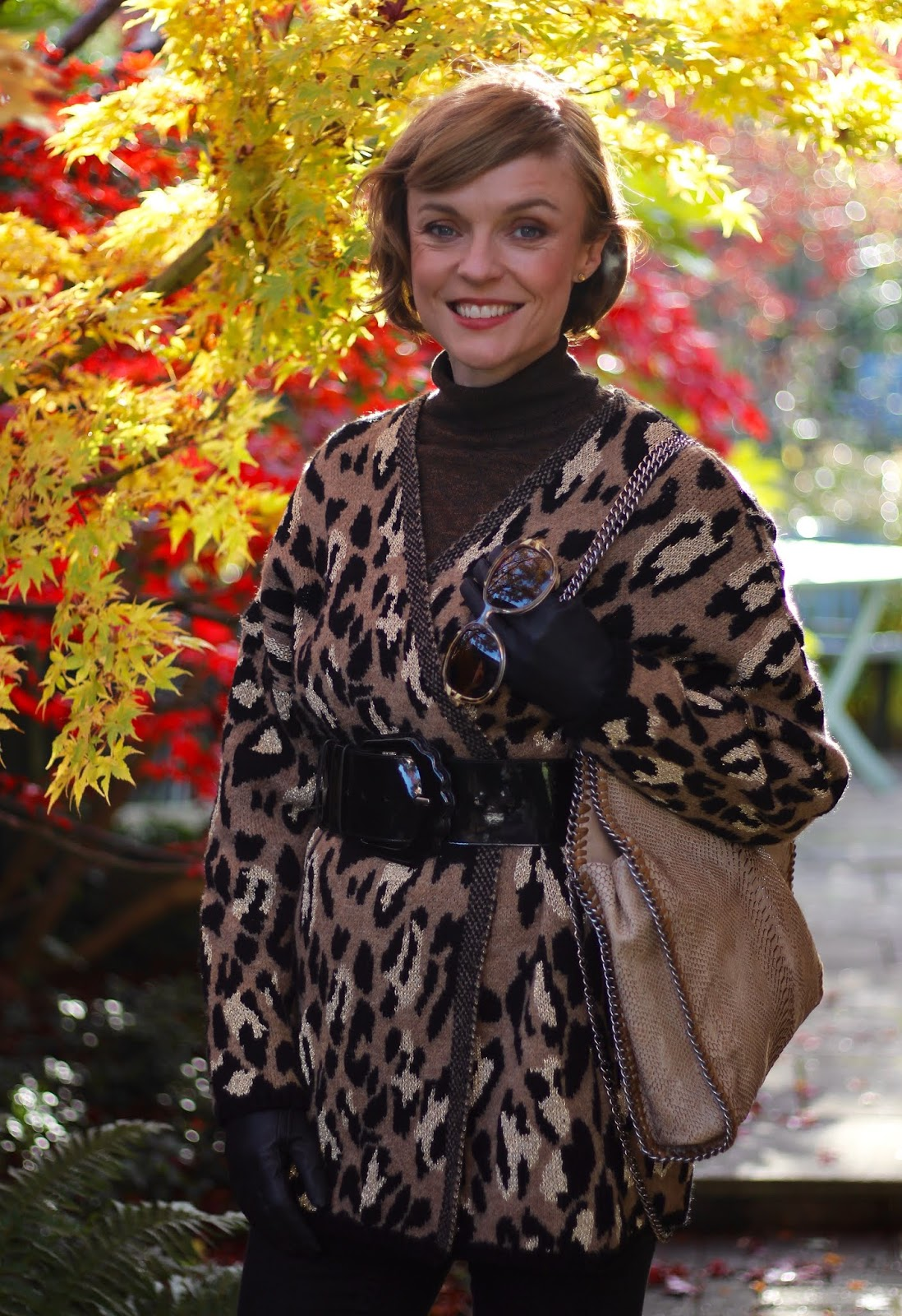 Layered Leopard Autumn Outfit | Fake Fabulous