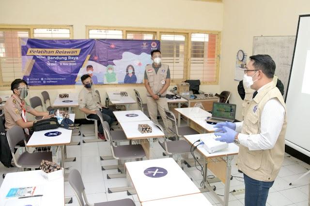Edukasi Masyarakat, Gubernur Emil Buka Pelatihan 3.000 Relawan COVID-19 Jabar